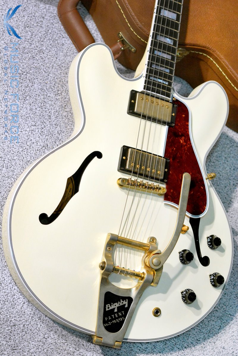 [Outlet 신품(Blem)특가!!!] Gibson Memphis 2016 Model ES-355 Limited Run-Classic White VOS w/Gold HW & Bigsby(2016년산/신품)