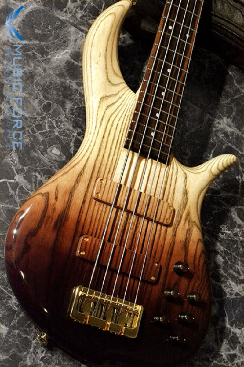 [2018 Final Sale(~12/31까지)!!!] F-Bass BN5 Brown Fade Gloss w/Macassar Ebony FB & Gold HW(2017년산/신품)