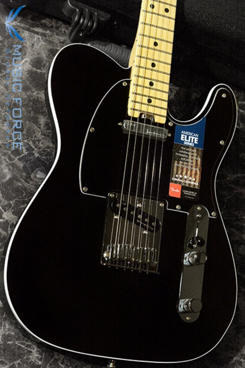 Fender USA American Elite Telecaster-Mystic Black w/Maple FB (2016년산/신품) 펜더 아메리칸 엘리트 텔레캐스터
