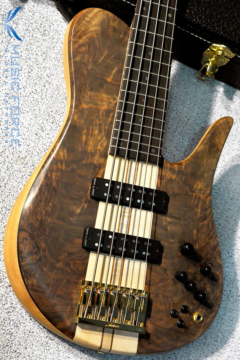 [Fodera Holiday Sale(~12/21까지)!!!] Fodera Custom Imperial Elite 5-Crotch Walnut Top w/5-Piece Maple Neck & Indian Rosewood FB(2017년산/신품)