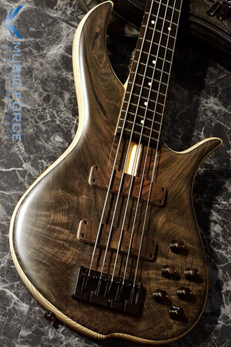 [2018 Final Sale(~12/31까지)!!!] F-Bass BN5 Water Cured Redwood Top w/Macassar Ebony FB & Black HW(2017년산/신품)