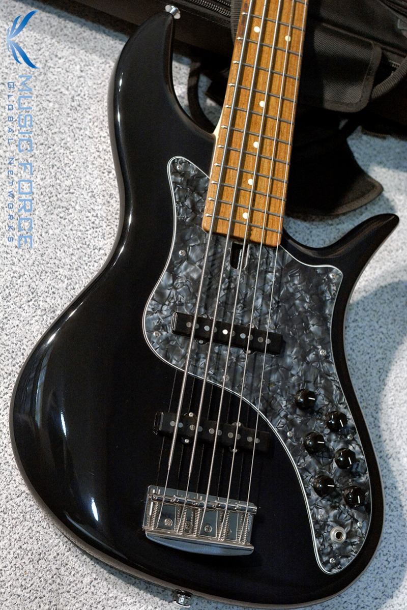 [Used] F-Bass VF5 Solid Black(Option Color) w/Black Tortoise PG & Rosewood FB(2012년산/Mint급중고)