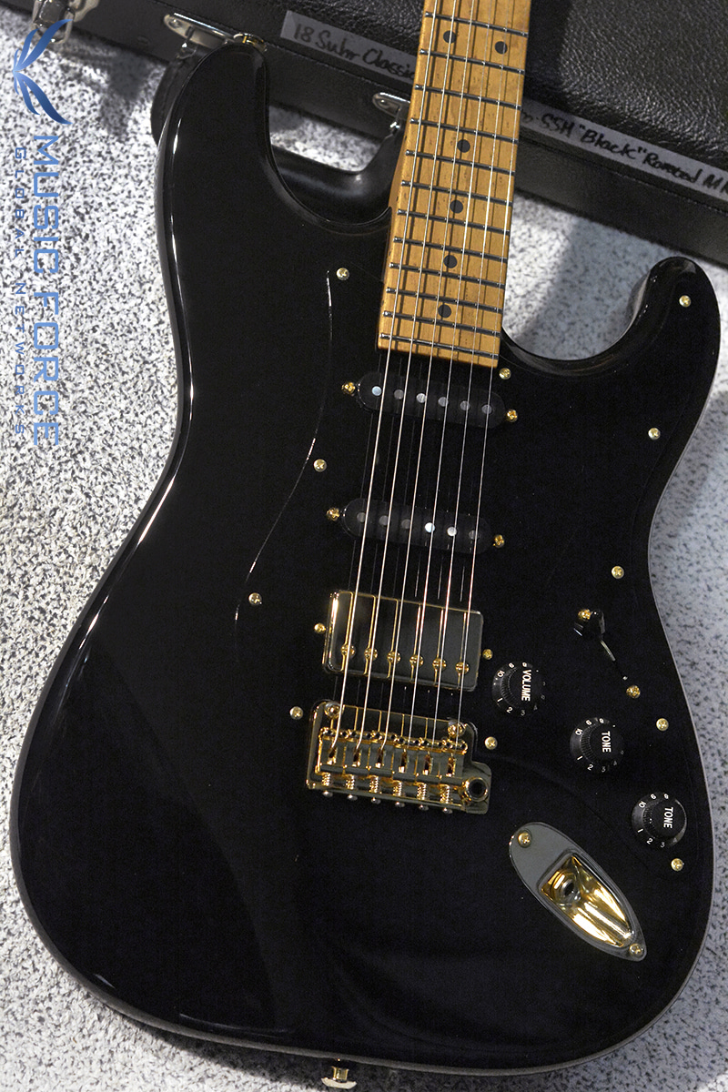 Suhr Mateus Asato Signature Classic SSH-Black w/3A Roasted Birdseye Maple Neck, Gold HW & SSCII System #2(2018년산/신품)