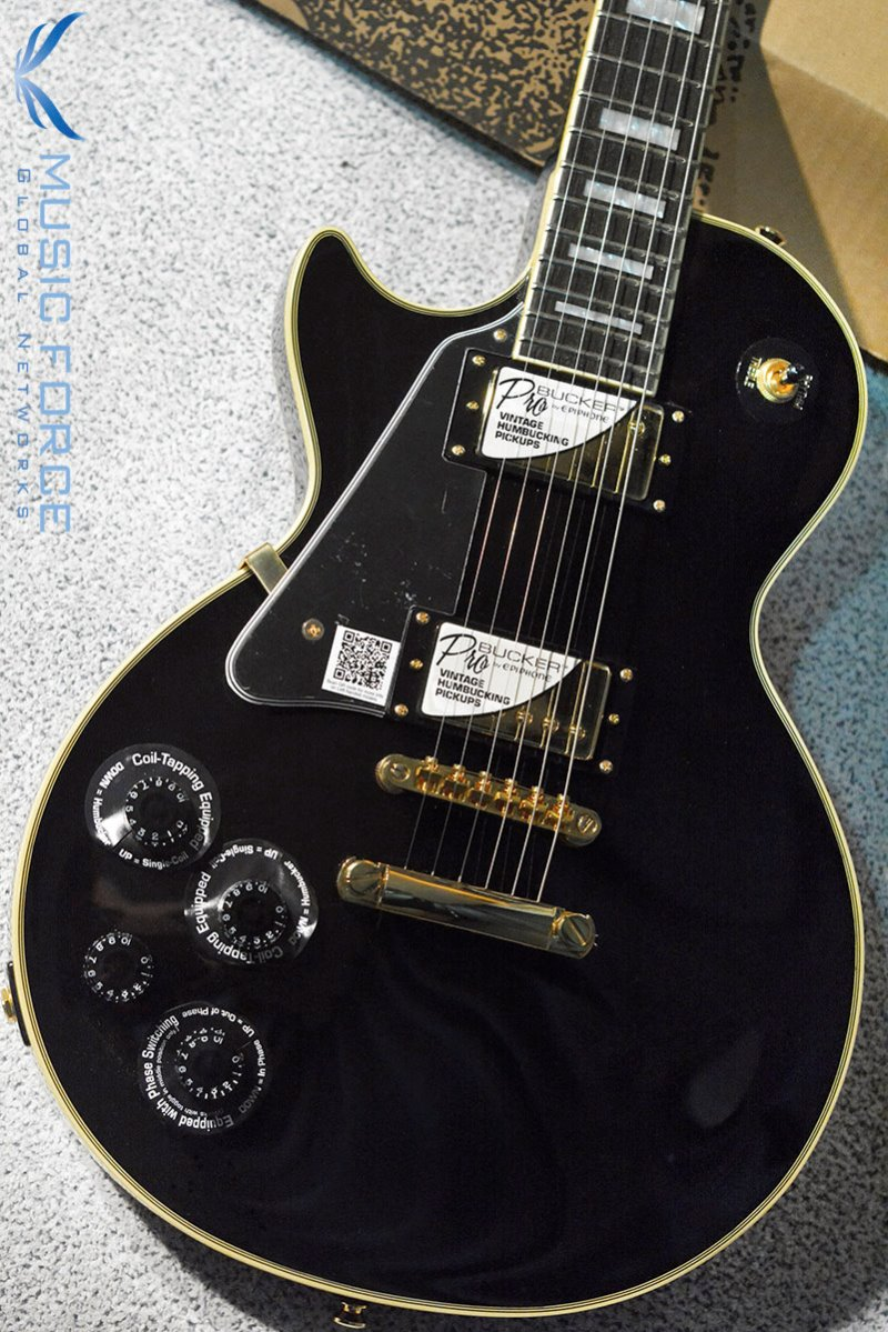 Epiphone Les Paul Custom Pro-Ebony w/Gold Hardware, Left Hand(신품)