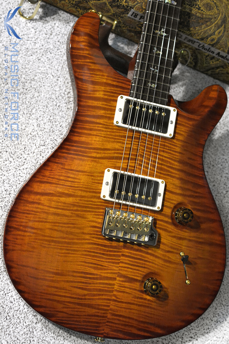 PRS Wood Library Custom 22 Limited-Violin Amber Sunburst w/Flame Maple 10 Top, East Indian Rosewood FB & Hybrid HW(2018년산/신품)