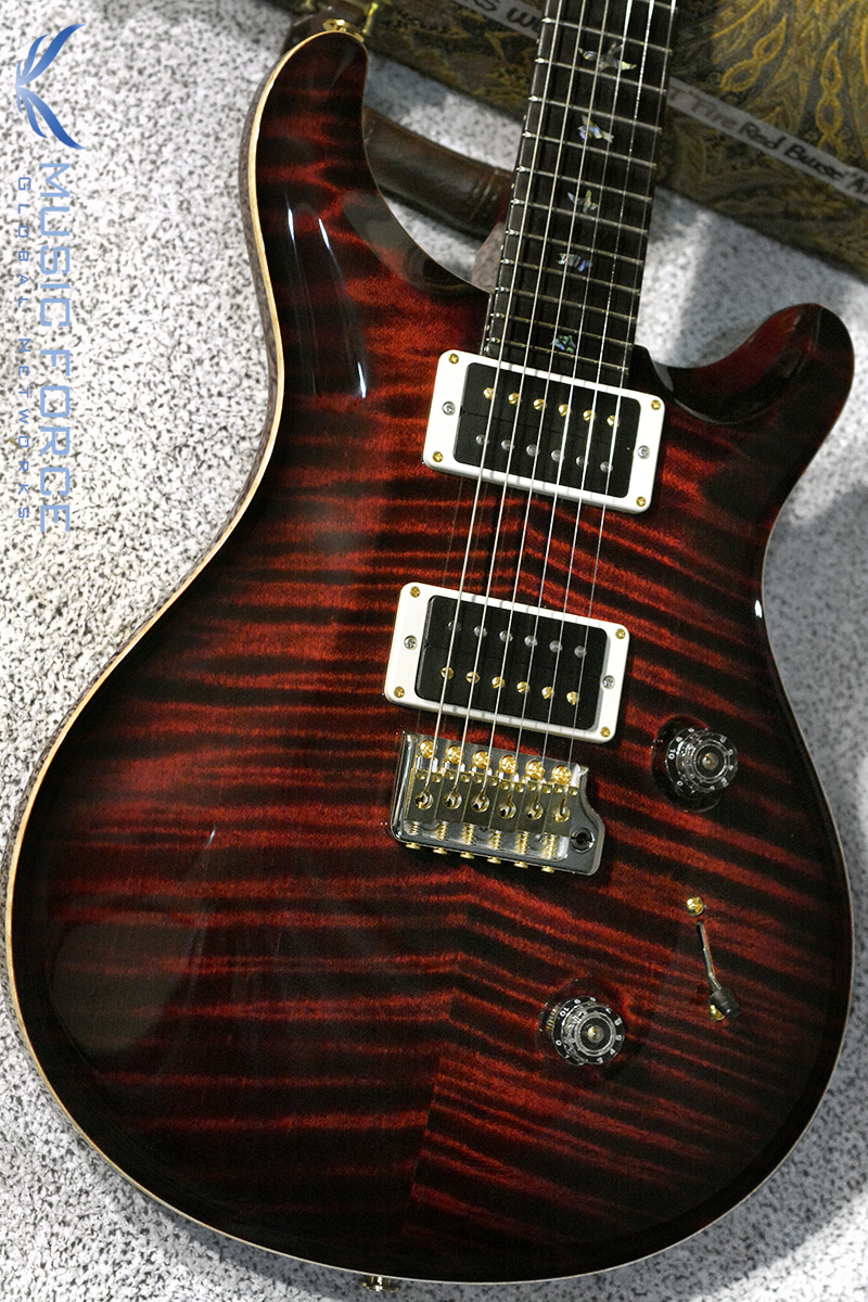 PRS Wood Library Custom 24 Limited-Fire Red Burst w/Artist Flame, African Blackwood FB & Hybrid HW(2018년산/신품)