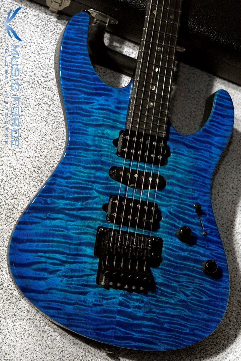 [이월상품창고대방출!!!] Suhr Custom Modern Set Neck HSH QMT(Custom Top Wood Selection)-Dark Aqua Blue Burst w/Floyd & Black HW(2015년산/신품)