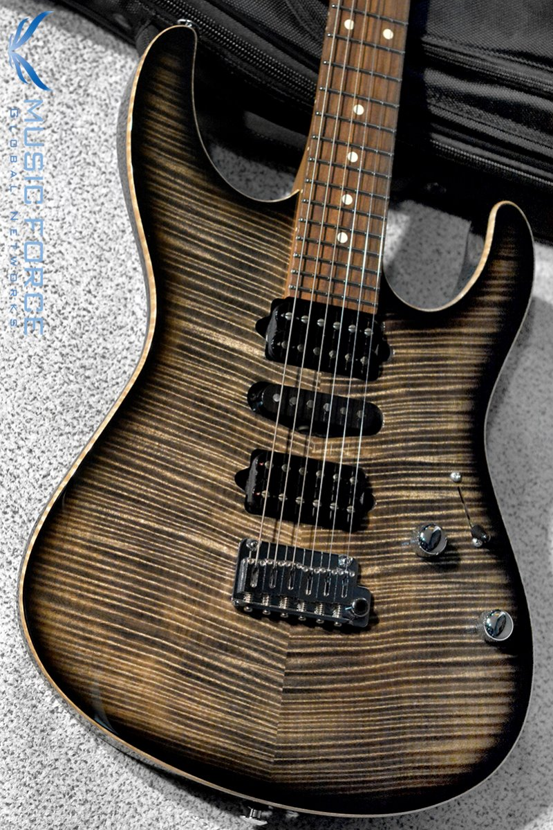 Suhr Modern Plus HSH-Trans Charcoal Burst w/Roasted Maple Neck, Pau Ferro FB & Black Headstock(2019년산/신품)