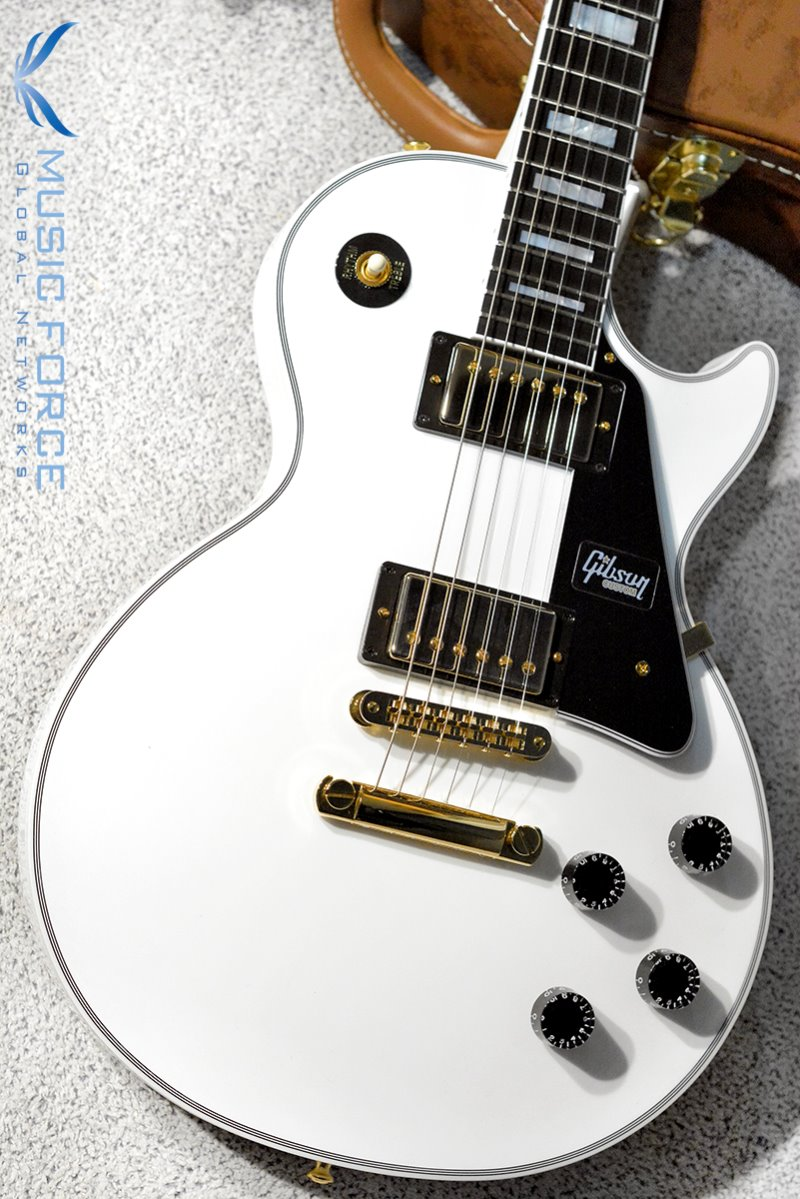 [특별세일] Gibson Custom 2018 Model Les Paul Custom-Alpine White w/Gold HW (2018년산/신품)