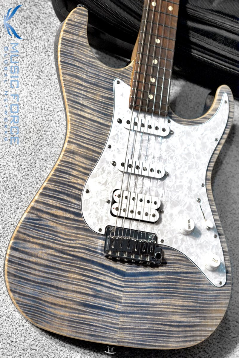 Suhr Standard Plus SSH FMT-Trans Blue Denim Slate w/Roasted Maple Neck, Pau Ferro FB & SSCII System(2019년산/신품)