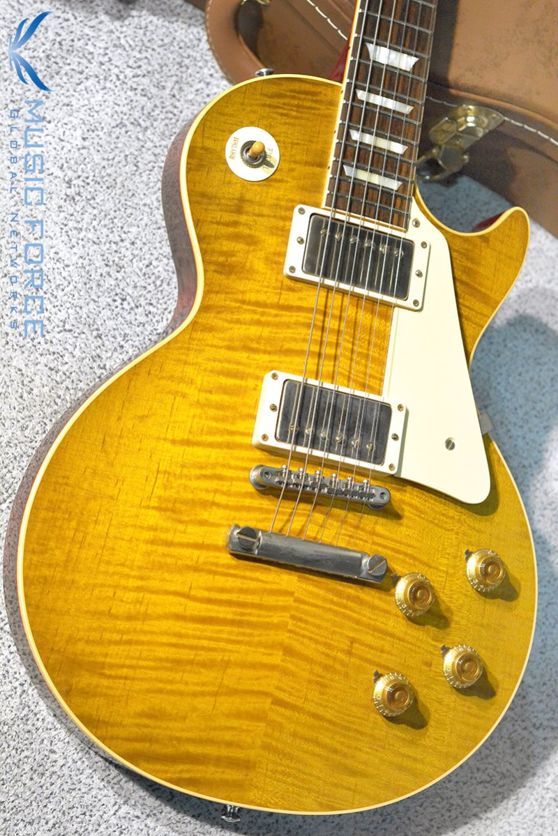 [중고] Gibson Custom True Historic 1959 Les Paul Reissue Aged-Vintage Lemon Burst(2016년산/신품)
