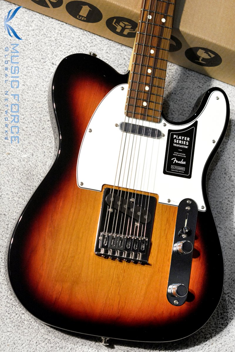 Fender Mexico Player Series Telecaster-3TSB w/Pau Ferro Fingerboard (2018년산/신품) 펜더 멕시코 플레이어 텔레캐스터