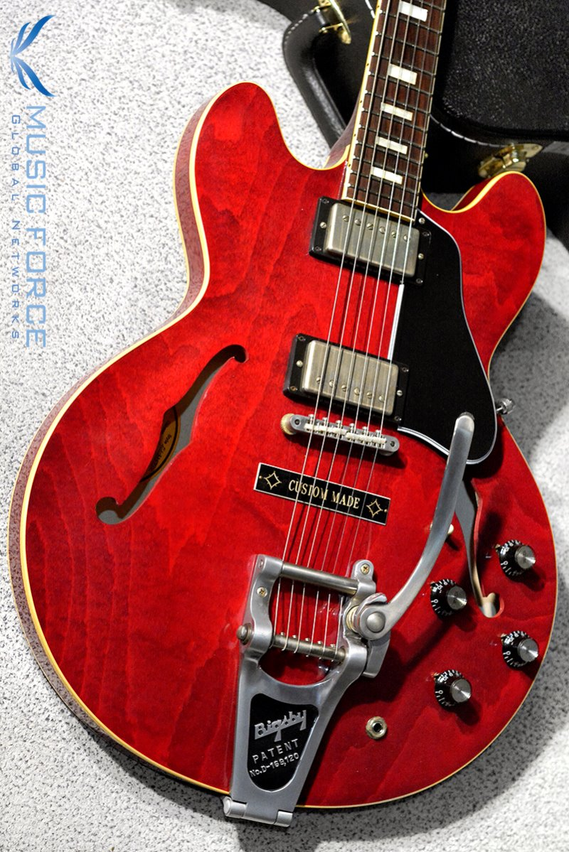 [특별세일] Gibson Memphis 2016 Model 1963 ES-335TDC Block Reissue-60's Cherry VOS w/Bigsby, Custom Made Plate(2016년산/신품)