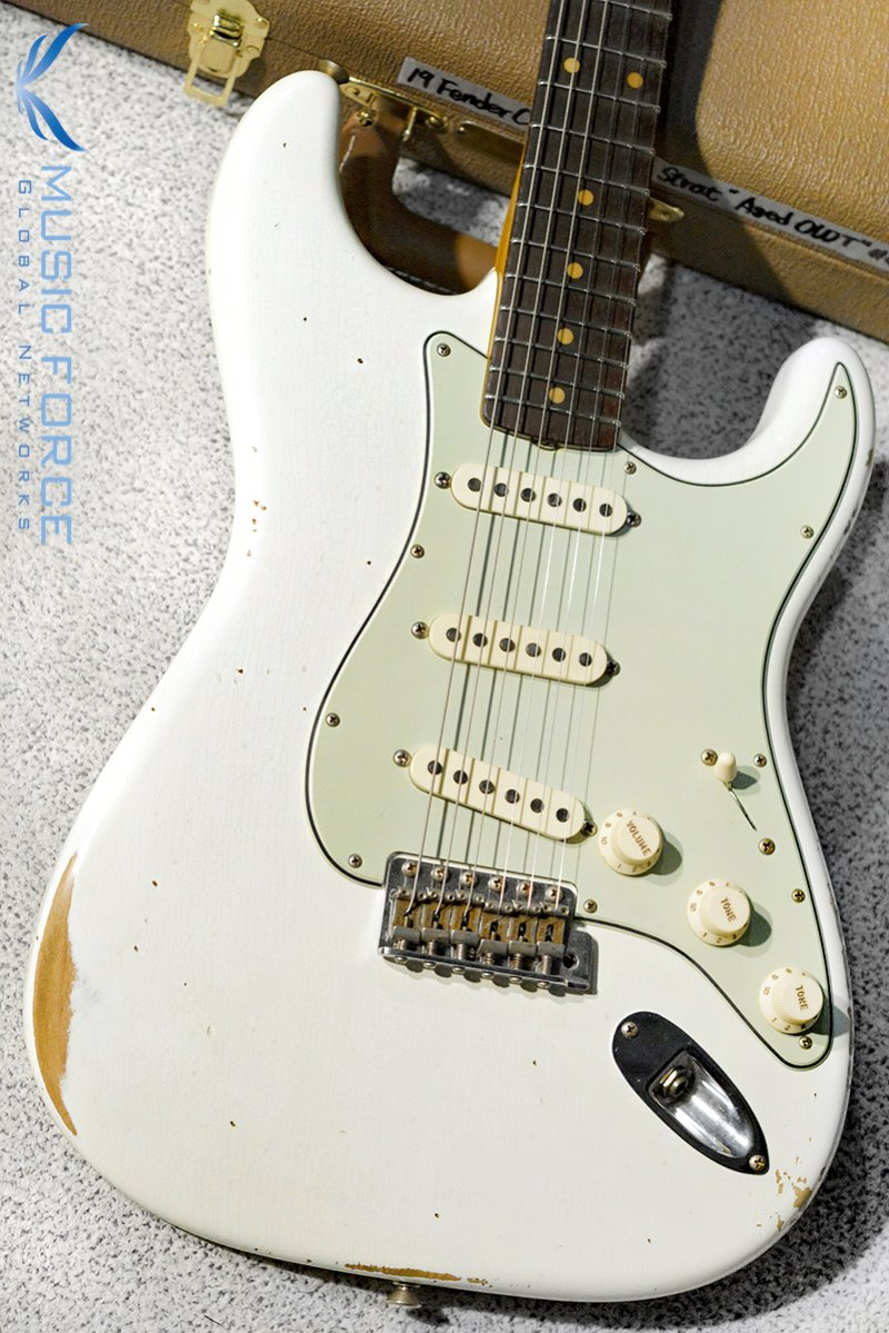 Fender Custom Shop 1960 Stratocaster Relic-Aged Olympic White(2019년산/신품)