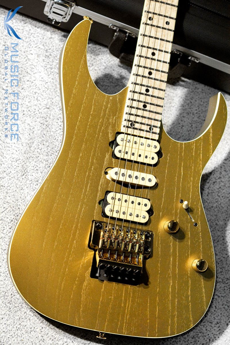 [창사11주년기념세일] Ibanez Prestige Limited Edition RG657AHM-Gold Flat (Made in Japan/2019년산/신품)