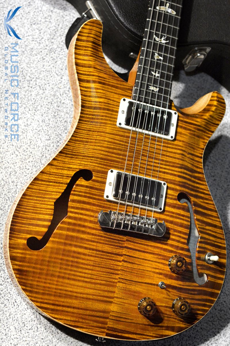 [파이널세일(~12/31까지)] PRS Hollowbody II FMT-Custom Color Black Gold w/Double 10top Option & Piezo(2016년산/신품)