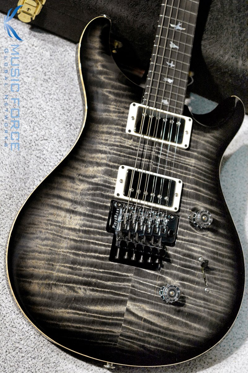 PRS Wood Library 'Floyd' Custom 24 Limited-Charcoal Burst w/Artist Flame, Stained Artist Figured Maple Neck, Gaboon Ebony FB, Nickel HW & 59/09 Covered Pickups(2017년산/신품)