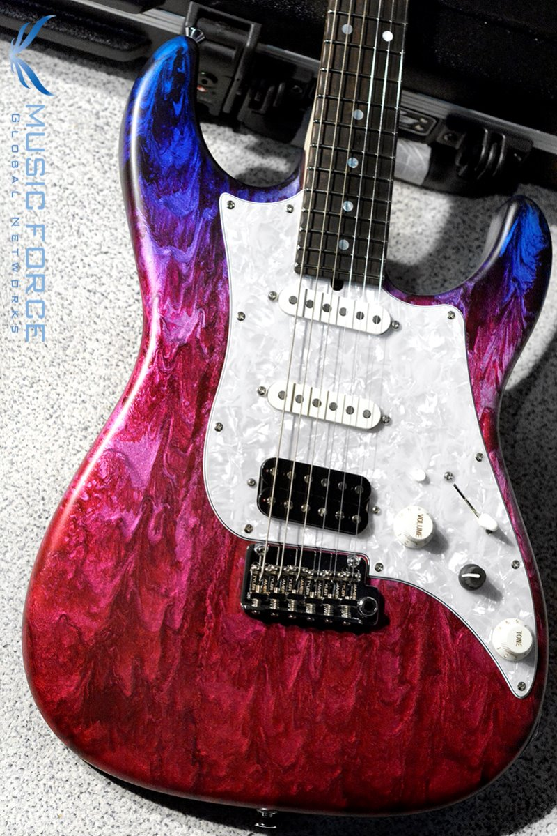 James Tyler Japan Studio Elite HD SSH-Jimburst over Cherry Red Shmear w/Rosewood FB, Midboost & Bypass Button(2019년산/신품)