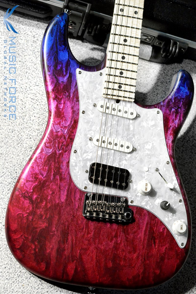 James Tyler Japan Studio Elite HD SSH-Jimburst over Cherry Red Shmear w/Maple FB, Midboost & Bypass Button(2019년산/신품)