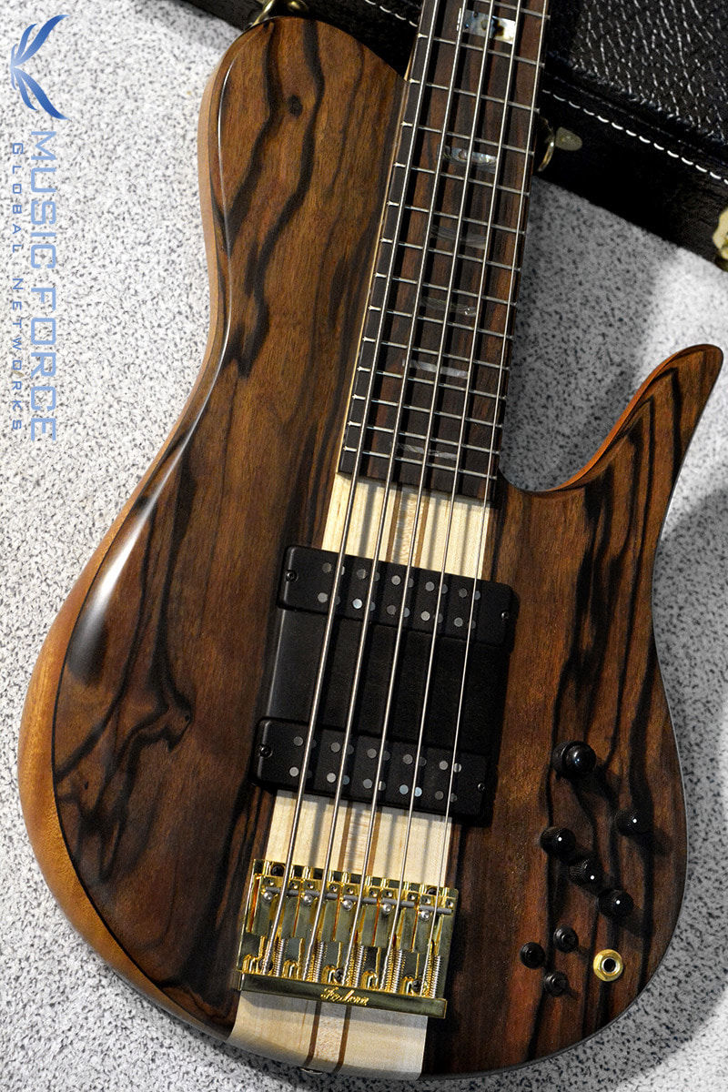 Fodera Custom Imperial Elite 5-Macassar Ebony Top w/5-Piece Maple Neck & Abalone Block Inlay(신품)