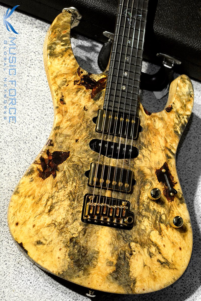 Suhr Modern Set Neck HSH Buckeye Burl w/Match Figured Headstock, Ebony FB, Double S Inlay & Gold HW(2017년산/신품)