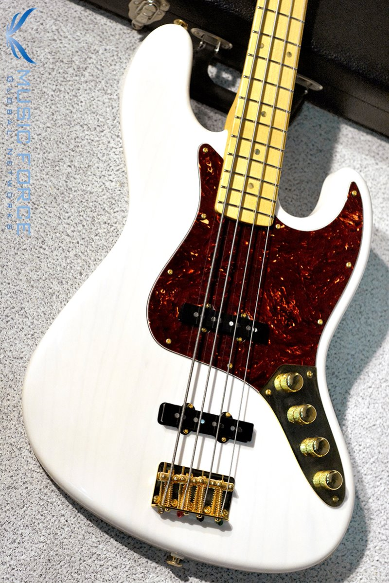 [Used] Suhr Custom Classic J Bass-Trans White w/Maple FB, Active Preamp & Gold HW(2014년산/Mint급중고)