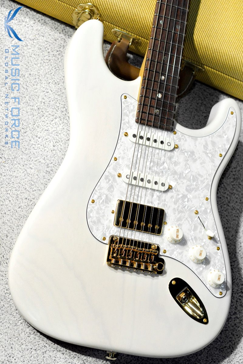 Suhr Custom Classic SSH Swamp Ash-Trans White w/White Pearl PG & Gold HW(2018년산/신품)