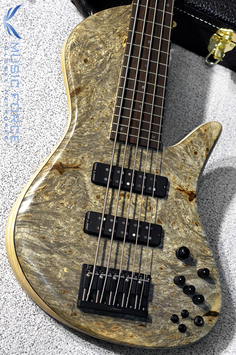 [창사12주년기념세일(~6/30까지)] Fodera Custom Emperor II Elite 5-Buckeye Burl Top w/Indian Rosewood FB(신품)