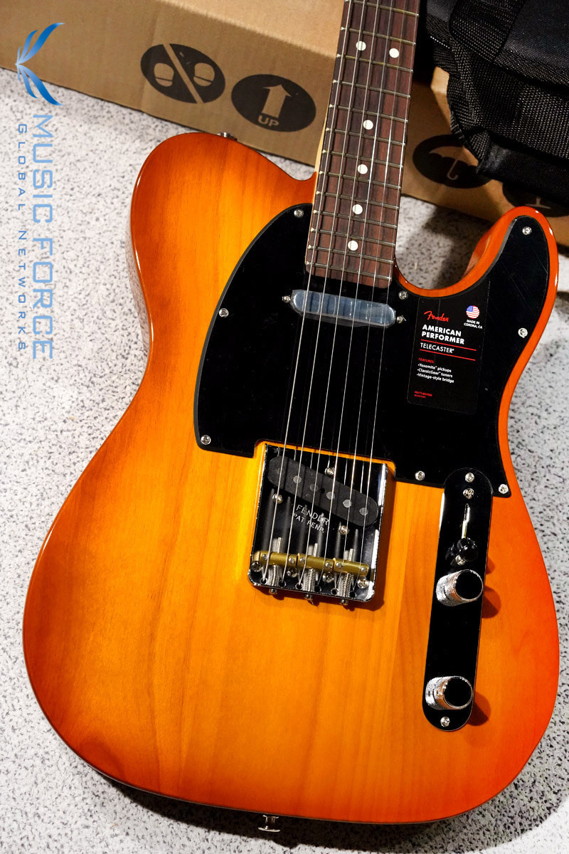 Fender USA American Performer Telecaster-Honey Burst w/Rosewood FB(2019년산/신품) 펜더 아메리칸 퍼포머 텔레캐스터