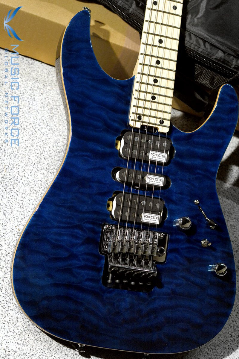 Schecter Japan NV-3-24-AL See-Thru Blue w/Maple FB (2018년산/Made in Japan/신품)