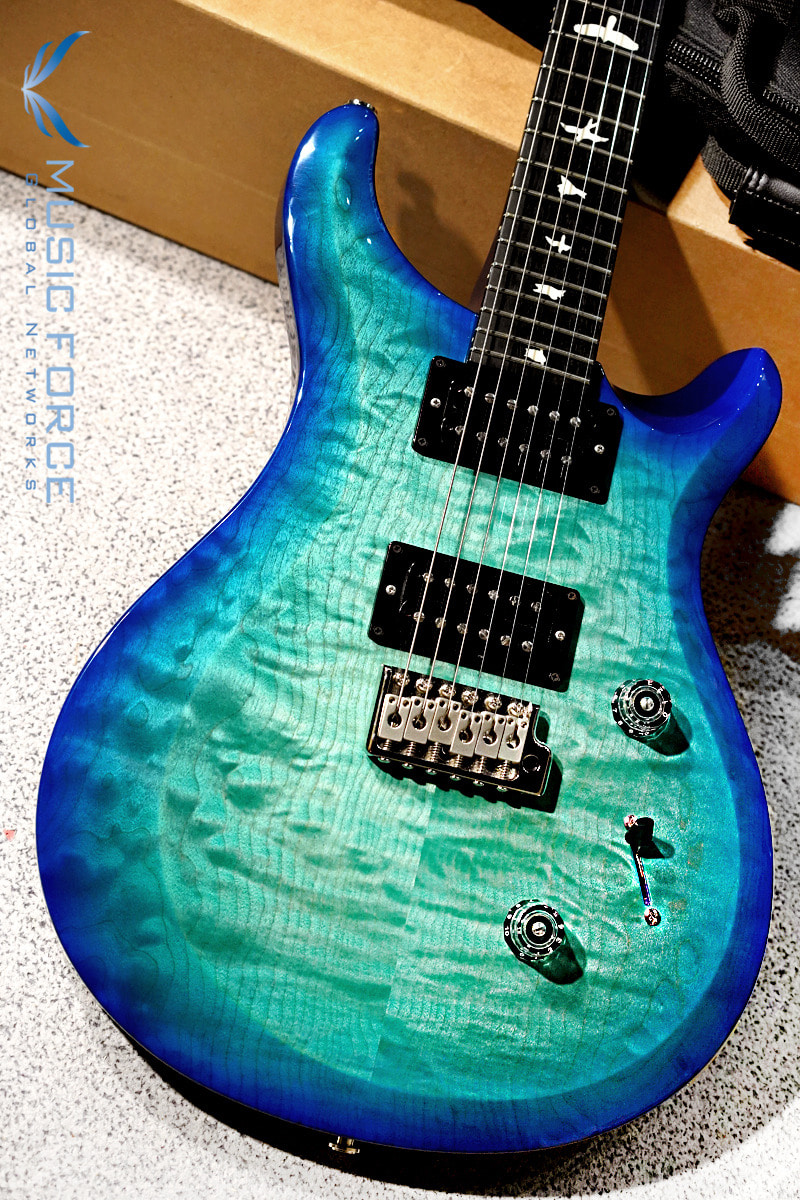 [2021신년세일(~2/28까지)] PRS S2 Custom 24 QMT Limited Run-Custom Color Makena Blue w/Ebony FB & Birds Inlay(신품) - S2028007