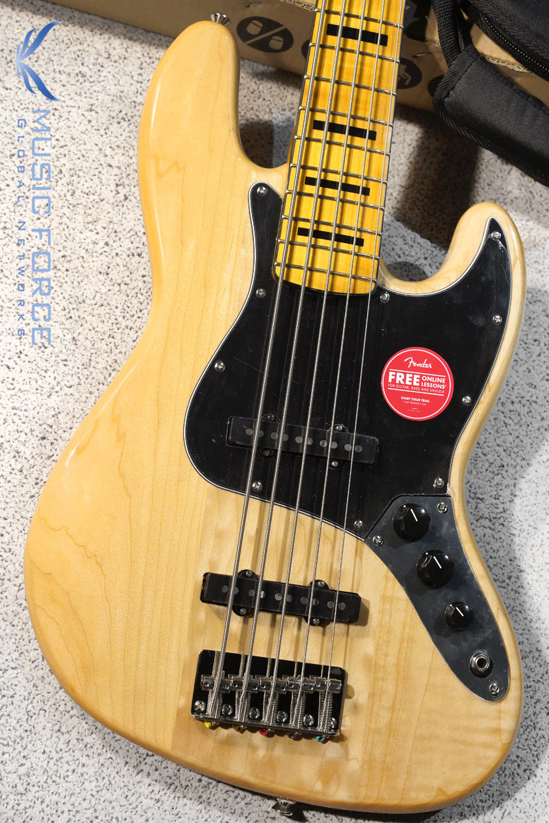 Squier Classic Vibe 70s Jazz Bass V-Natural w/Maple FB (2019년산/신품)