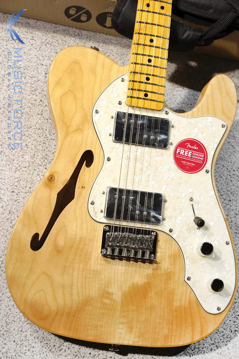 Squier Classic Vibe 70 Telecaster Thinline-Natural w/Maple Fingerboard (2019년산/신품)