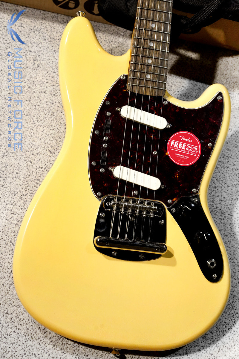 Squier Classic Vibe 60s Mustang-Vintage White w/Indian Laurel FB (2019년산/신품)