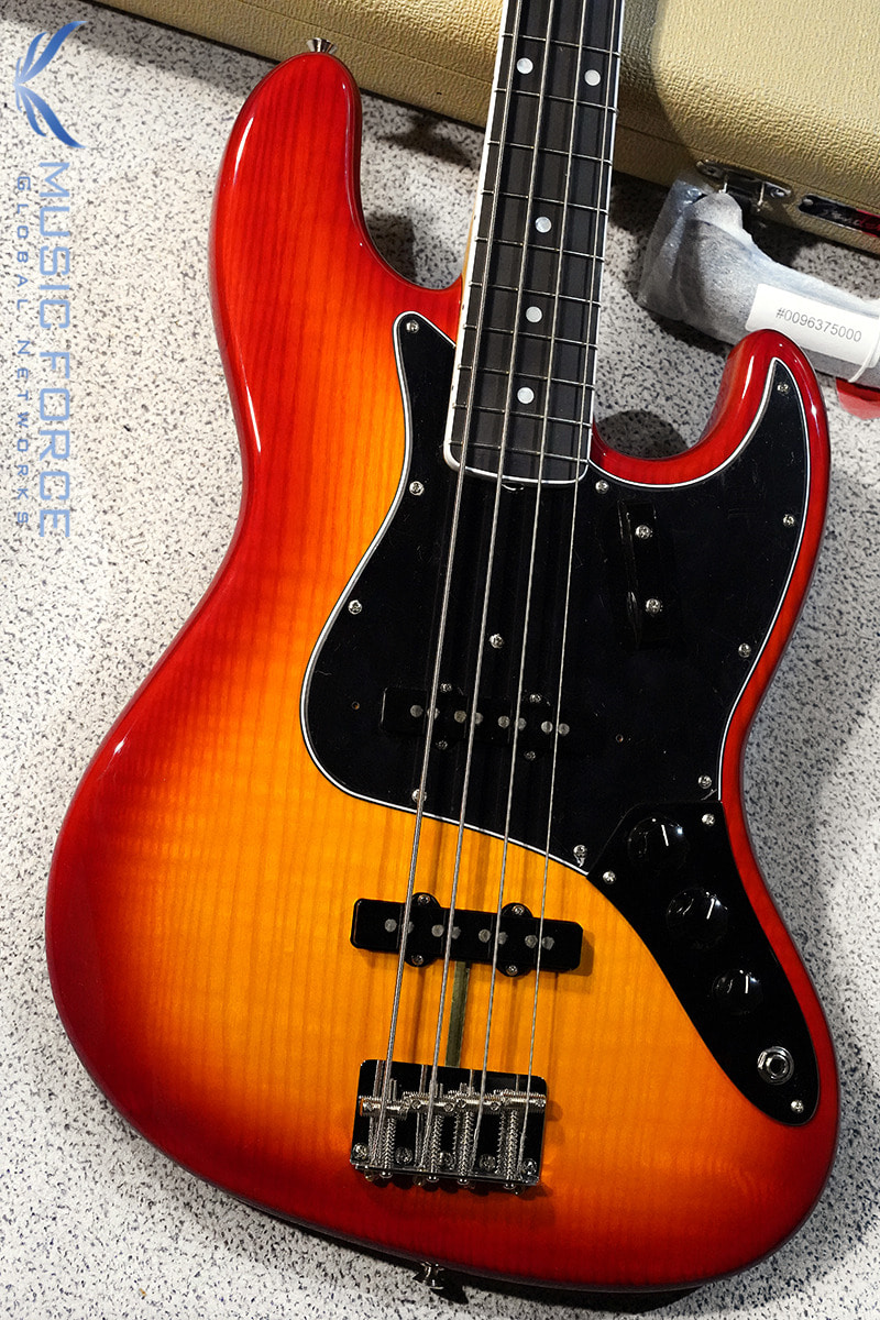 [특별세일] Fender USA Rarities Flame Ash Top Jazz Bass-Plasma Red Burst w/Ebony FB(2019년산/한정판/신품)