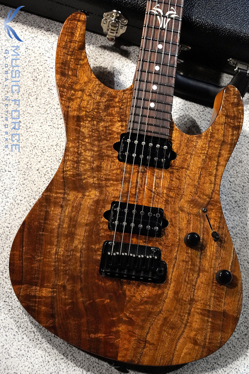Suhr Custom Modern HH Figured Koa Top-Natural Gloss w/Pau Ferro Neck and FB & Black HW(2019년산/신품)