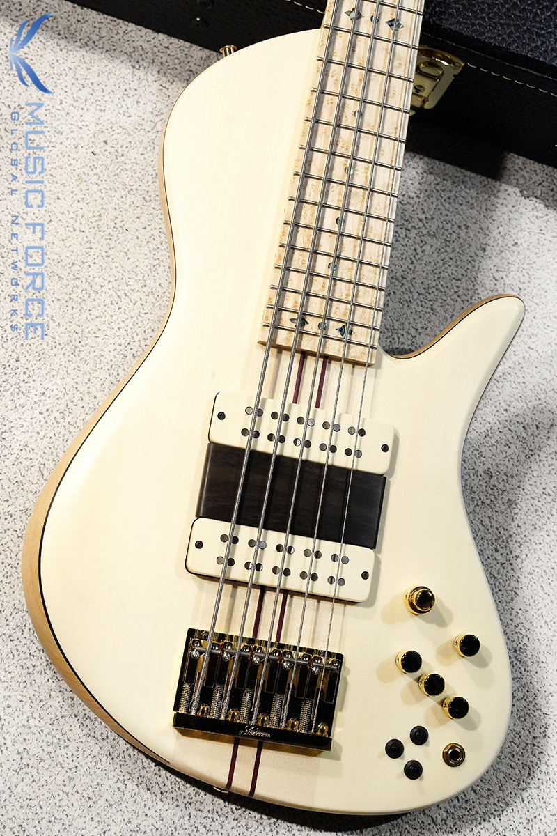 Fodera Custom Emperor II Elite 5-Holly Top w/5-Piece Maple Neck, Birdseye Maple FB, Tulip Inlay & Ebony Ramp(2020년산/신품)