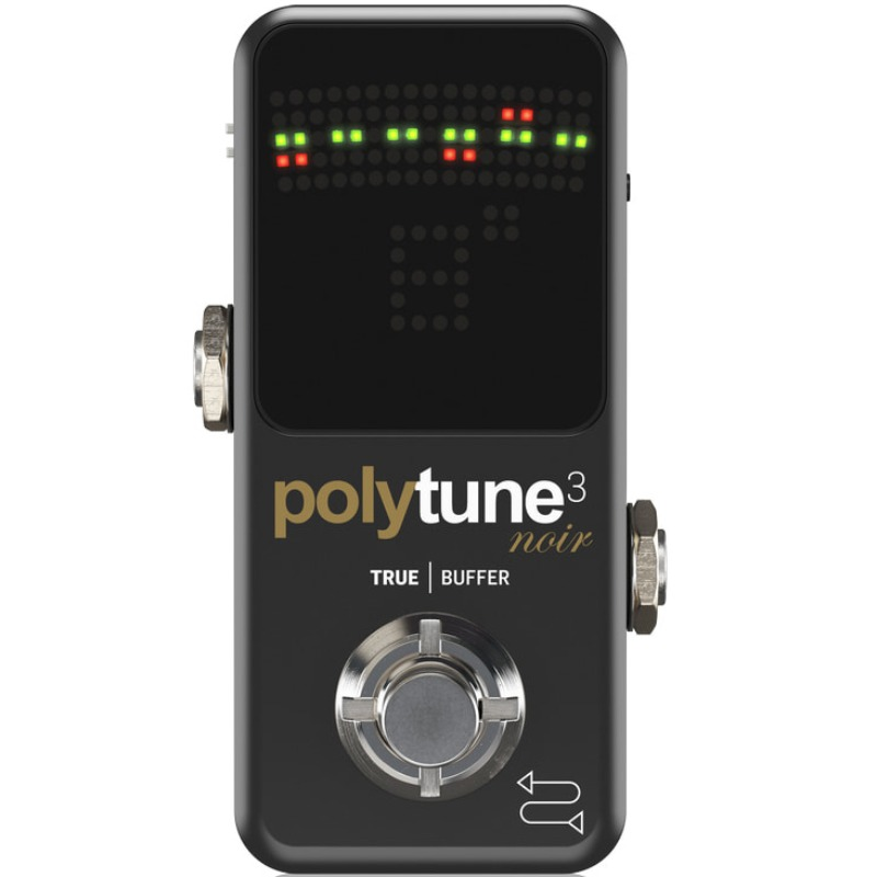 TC Electronic Polytune 3 Mini Noir Black with Bonafide Buffer 폴리튠 미니 페달 튜너