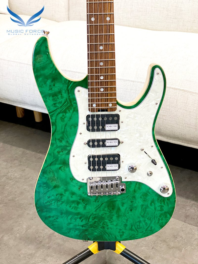 Schecter Japan SD-2-24-VTR-MW See-Thru Green w/Pau Ferro FB (2020년산/Made in Japan/신품)