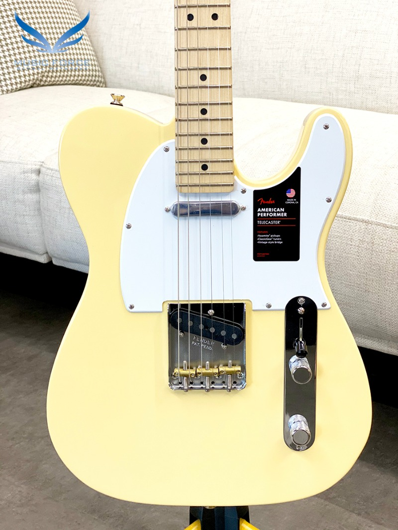 Fender USA American Performer Telecaster-Vintage White w/Maple FB(2019년산/신품) 펜더 아메리칸 퍼포머 텔레캐스터