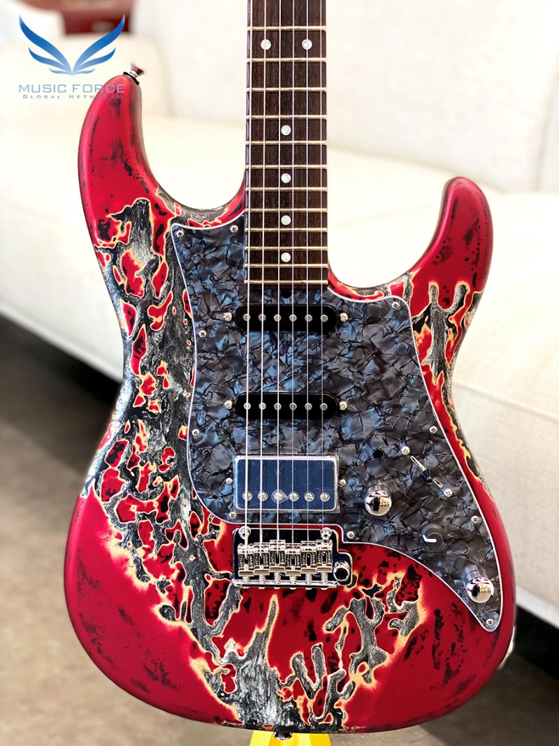 [파이널세일(~12/31까지)] James Tyler USA Studio Elite HD-Burning Water 2K Semi-Gloss(Mahogany Body) SSH w/Indian Rosewood FB, Black Headstock, Midboost & Bypass Button(2019년산/신품)