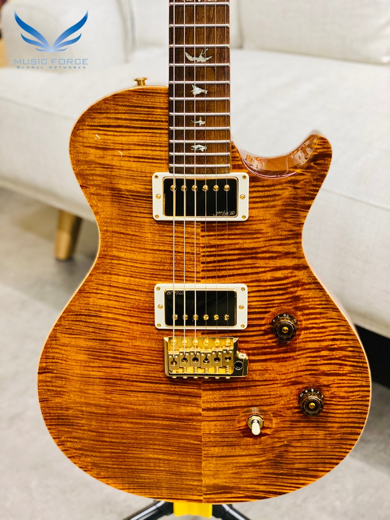 [파이널세일(~12/31까지)] PRS Wood Library Singlecut Trem Limited-Yellow Tiger w/Ribbon Mahogany Body, Korina Neck, Brazilian Rosewood(CITES-Certified) FB & Gold HW(2015년산/신품) - 219901