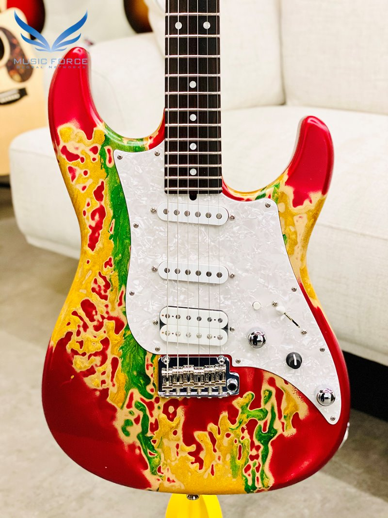[파이널세일(~12/31까지)] James Tyler USA Studio Elite HD-Rasta Shmear Semi-Gloss w/Birdseye Maple Neck & Macassar Ebony Fingerboard(2019년산/신품)