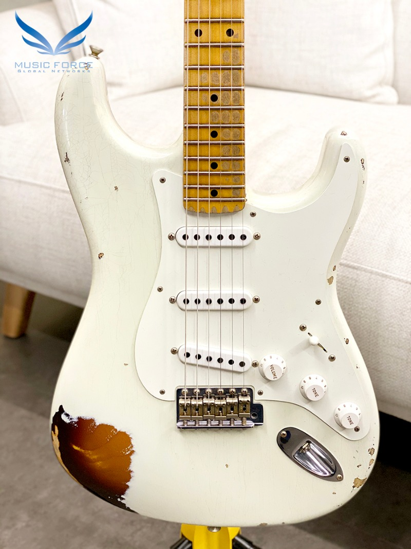 Fender Custom Shop Limited Edition 1955 Strat Heavy Relic-55 Desert Tan Over Chocolate 2 Color Sunburst (신품)