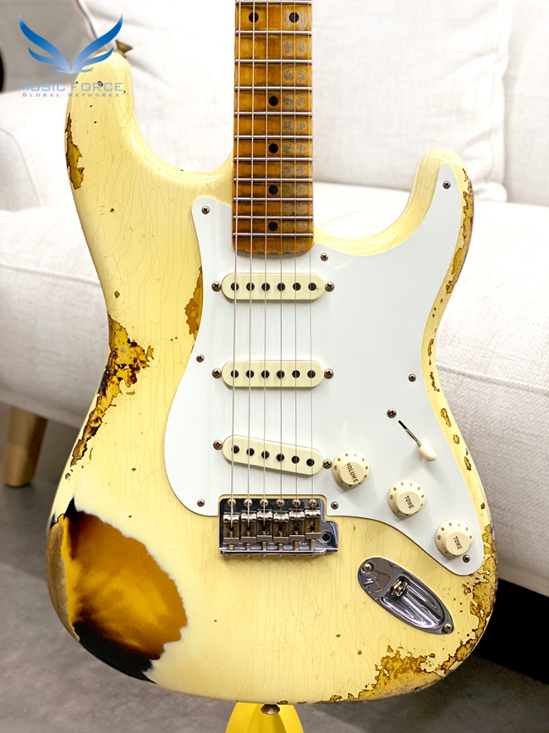 Fender Custom Shop Limited Edition 1958 Strat Heavy Relic-Aged Vintage White Over 2TSB (신품)