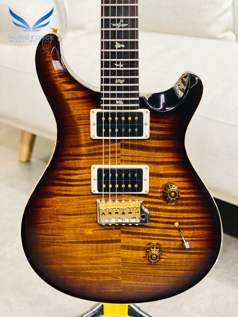 PRS Wood Library Custom 24 Limited-Black Gold Burst w/Artist Flame, African Blackwood FB & Hybrid HW(2018년산/신품) - 257227