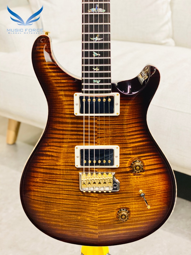 [파이널세일(~12/31까지)] PRS Wood Library Custom 22 Limited-Black Gold Burst w/Artist Grade Flame Maple Top, African Blackwood FB & Hybrid HW(2018년산/신품) - 257223