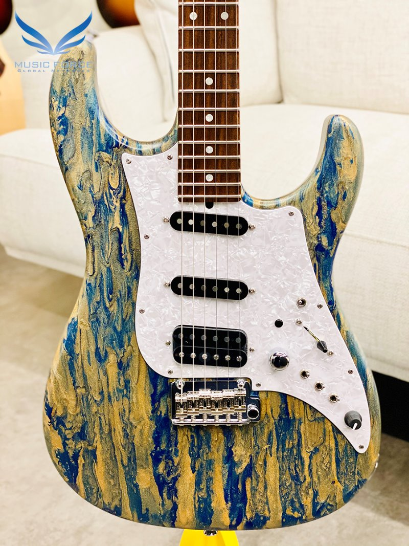 [파이널세일(~12/31까지)] James Tyler USA Studio Elite-Malibu Beach Shmear Semi-Gloss SSH w/Indian Rosewood FB, Duncan Pickups & Full Option Electronics(2019년산/신품)