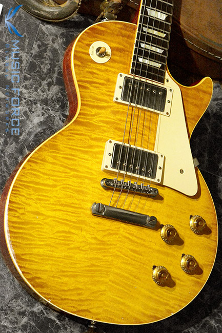 [특별세일] Gibson Custom Historic Select(True Historic Spec) 1959 Les Paul Reissue 'Murphy Burst(Painted) & Aged'-Green Lemon LTD(2016년산/신품)