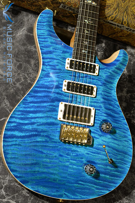 PRS Wood Library Studio Limited-Aquamarine w/10 Top Flame, East Indian Rosewood FB & Hybrid HW(2018년산/신품)